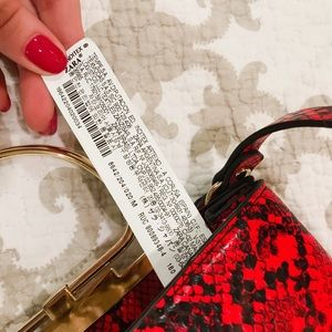 Zara Bags - Zara Red Snakeskin Bag